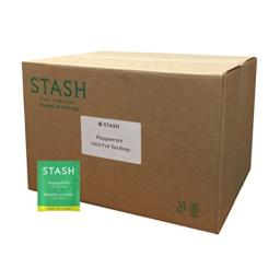 Stash Tea Peppermint Herbal Tea 1000 Tea Bags in 6.53 Pound Box, Tea Bags Individually Wrapped in Foil, Premium Black Tea Blended with Invigorating, Warming Spices, Drink Hot or Iced