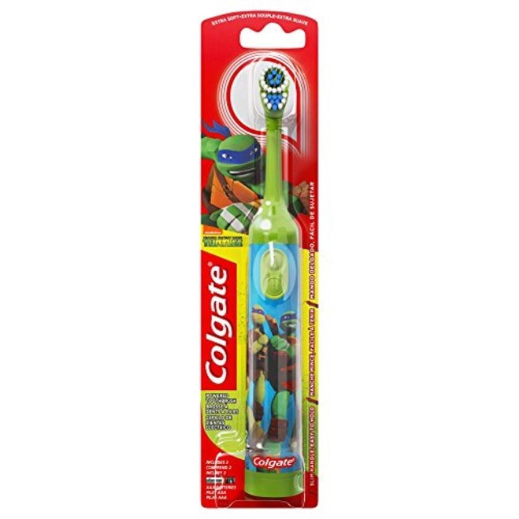 Colgate Kids Power Toothbrush, Teenage Mutant Ninja Turtles, Extra Soft, color and design may vary