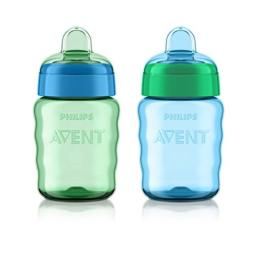 Philips Avent My Easy Sippy Spout 9-Ounce Cup (Pack of 2) Blue