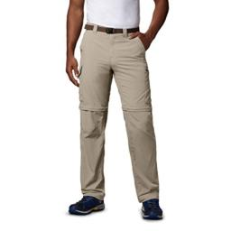 Columbia Men's Silver Ridge Convertible Pant, Breathable, UPF 50 Sun Protection, Fossil, 36x30