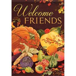 Carson Home Accents Harvest Welcome Trends Classic Large Flag