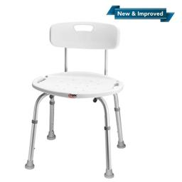 Carex Shower Chair With Back, Bath Chair and Shower Seat For Elderly, Handicap, and Disabled, 350lbs, Easy Assembly