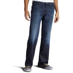 7 For All Mankind Men's Austyn Relaxed Straight-Leg Jean in Los Angeles Dark, Los Angeles Dark, 36x34