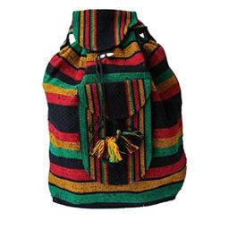 Freedom Backpack Beach Bag Plus Free Bracelet (Rasta)