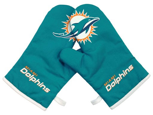 6ea85bd8 Sports Team Logo Miami Dolphins NFL Oven Cross Mitt Gloves