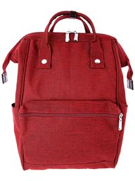 5th Elm Double Zipper Backpack for Back to School - Red