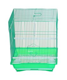 """YML A1124MGRN Flat Top Small Parakeet Cage - 11"""" x 8.5"""" x 14"""" - Green"""