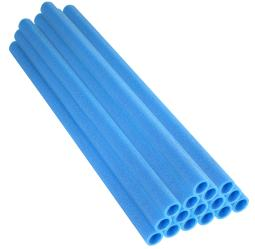 "37 Inch Trampoline Pole Foam sleeves, fits for 1"" Diameter Pole - Set of 16 -Blue"