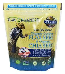 Garden of Life - Real Cold Milled Raw Organic Golden Flax Seed & Organic Chia Seed - 12 oz.