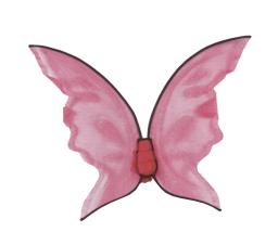 Hot Color Butterfly Wings - Pink FW90456PK