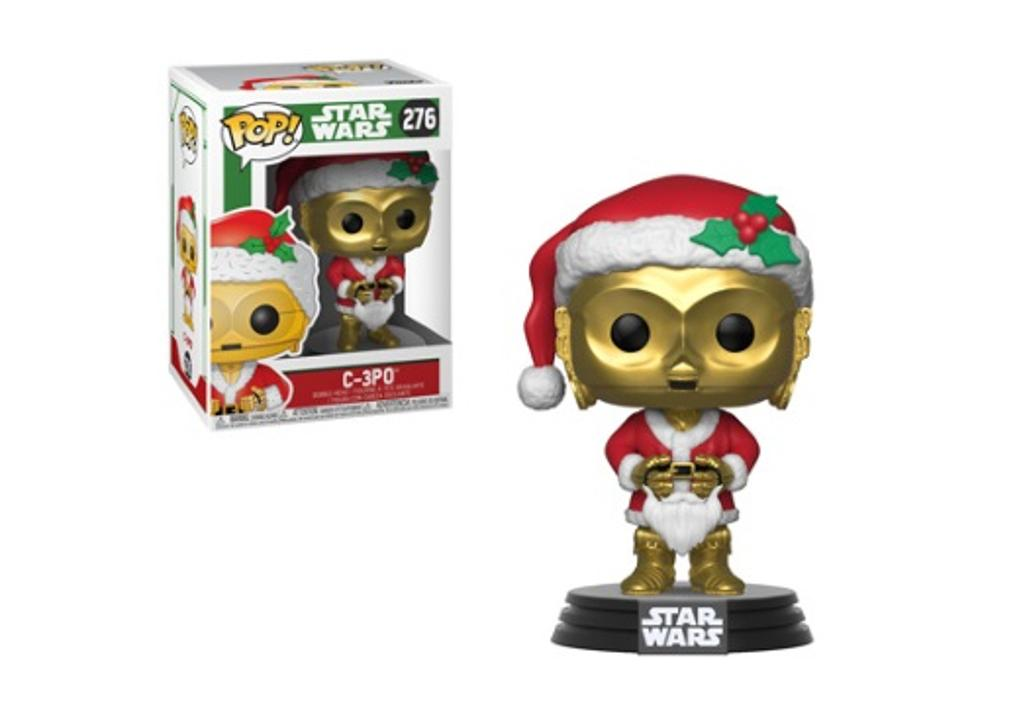 Pop! star wars holiday-c-3po as santa