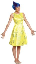 Disguise Women'S Inside Out Joy Deluxe Costume, Yellow, Large DG86954E