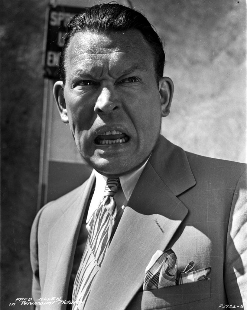 A Publicity Still Of Fred Allen Photo Print