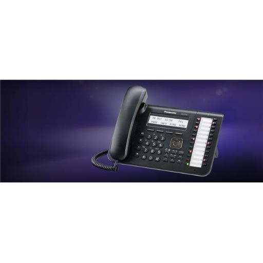 Panasonic Business Systems KX-DT543-B 24 Button 3-Line Backlit LCD Display Digital Telephone with Full Duplex Speaker Phone Black