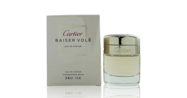Cartier Women Cartier Baiser Vole Edp Spray(Pack Of 1) Women Cartier Baiser Vole EDP SprayLaunched in the year 2011 by the design house of Cartier. The heart beats with refined and elegant lily petals, while the base notes offer green leaves of lily. 1 oz.