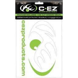 CEZ PRODUCTS 998865 C-EZ 6 WHITE/LIME REFLECTIVE DIE CUT VINYL DECAL