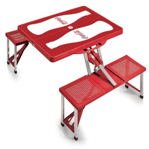 Picnic Time 811-00-100-916-0 Coca Cola - Portable Picnic Table, Red Coke Bottle, Red