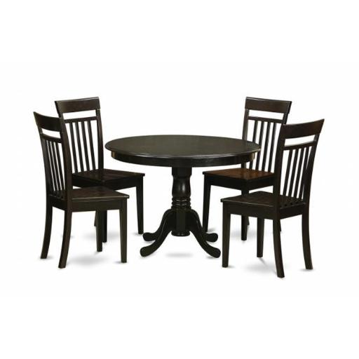 East West Furniture HLCA5-CAP-W 5 Piece Kitchen Nook Dining Set-Breakfast Nook-Table and 4 Dinette Chairs