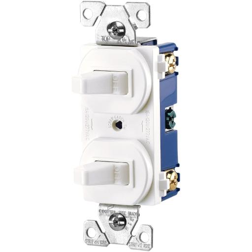 Cooper Wiring 275w-box 3 Way Duplex Switch, White