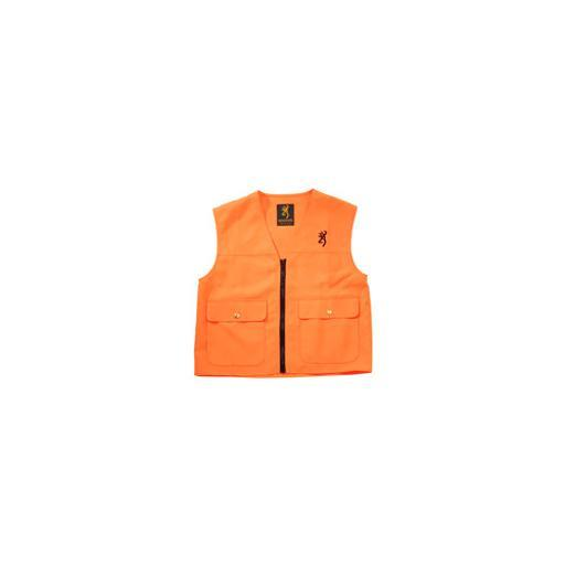 Browning 3055000103 bg junior safety vest w/logo blaze orange large