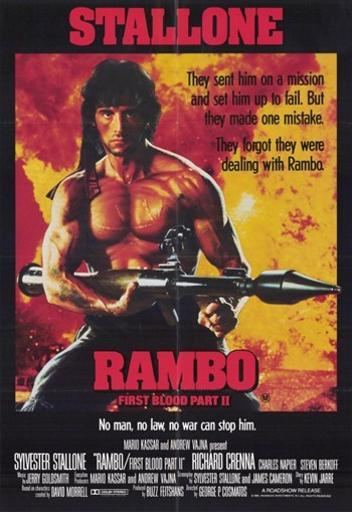Rambo First Blood Part 2 Movie Poster (11 x 17) Y82J33UHKCZNN8CY