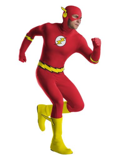 Mens Flash Costume Red Men L (42-44),Men M (40-42),Men S (36-38),Men XL (46-48),Men XS