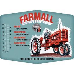 Farmall 90149623 open road brands thermometer sign farmall improved emb tin