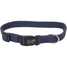 "Coastal Soy 3/4"" Adjustable Dog Collar-Indigo, Neck Size 12""-18"""