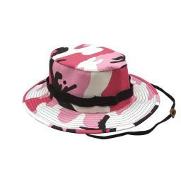 Pink Camo Jungle Hat, Available in 6 sizes