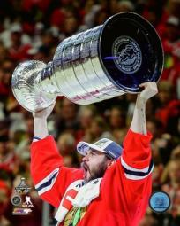 Brent Seabrook with the Stanley Cup Game 6 of the 2015 Stanley Cup Finals Sports Photo PFSAASB13301