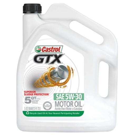 BP Lubricants 03096 5 Quart, Castrol 5W30 GTX Motor Oil, Pack of 3