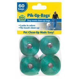 Our Pets 2150010050 Green Our Pets Pik-Up-Bags 60 Count Green
