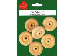 Laru 10042 lara s wood pkg toy wheel 1 6pc