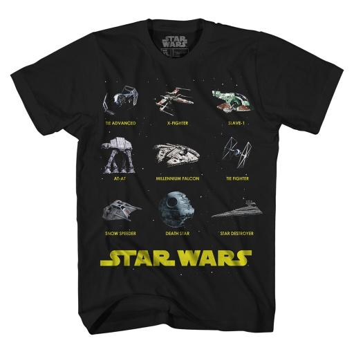 Star Wars Boys' Glow-In-The-Dark War Machines Licensed Graphic T-Shirt