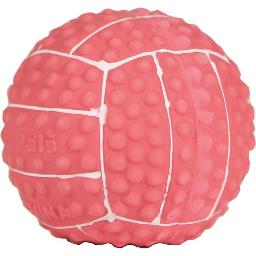 COASTAL PET PRODUCTS LI'L PALS LATEX VOLLEYBALL DOG TOY 2 IN PINK/WHITE 827940