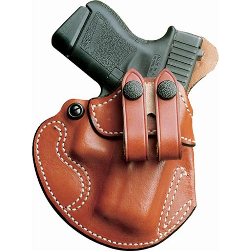 Desantis 028tb8bz0 desantis cozy partner holster iwb lh leather glock 43 tan