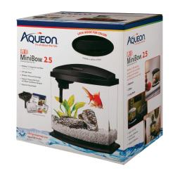 Aqueon 100528788 black aqueon minibow led aquarium kit 2.5 gallon black 11.5 x 7.63 x 12.5