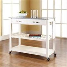 Crosley Furniture KF30053WH Solid Granite Top Kitchen Cart-Island