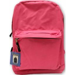 A Plus Homework 2290990 15 In. Classic Backpack - Pink, Case Of 12