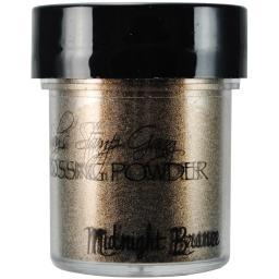 Lindy's Stamp Gang 2-Tone Embossing Powder .5oz Midnight Bronze Obsidian