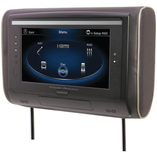 LCD Universal Headrest with IR & FM Transmitters & 3 Interchangeable Skins for DVD Player, Multicolored - 9 in.