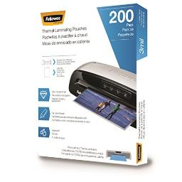 Fellowes, inc. 5743401 quality laminating pouches that provide clarity and durability. these pouches ha