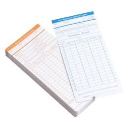 Yescom 100 Count Monthly Time Clock Cards Timecard for Employee Attendance Payroll Recorder