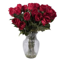 Vickerman F12188 Red Rose Arrangement Everyday Floral - 16 in.