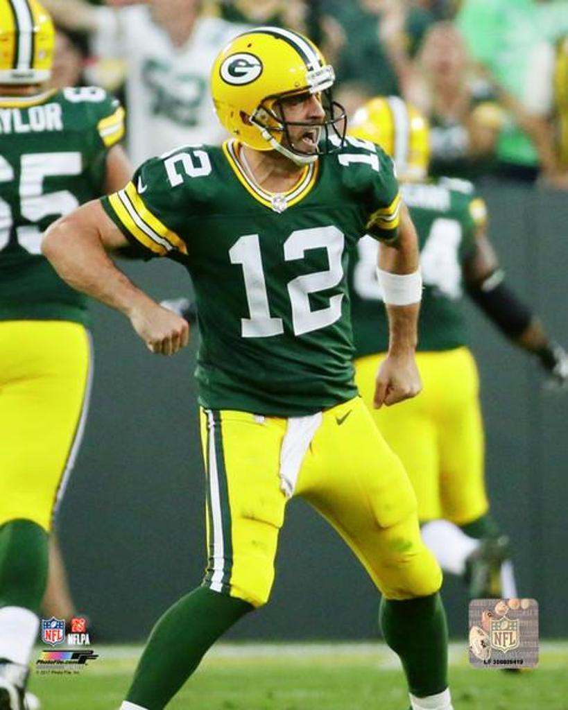 Aaron Rodgers 2017 Action Photo Print