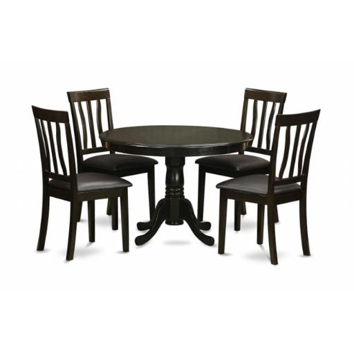 East West Furniture HLAN5-CAP-LC 5 Piece Small Kitchen Table and Chairsset-Small Kitchen Table and 4 Dinette Chairs