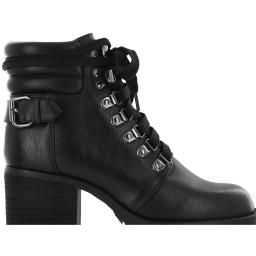 Mia Womens Broderick Faux Leather Lug Sole Combat Boots