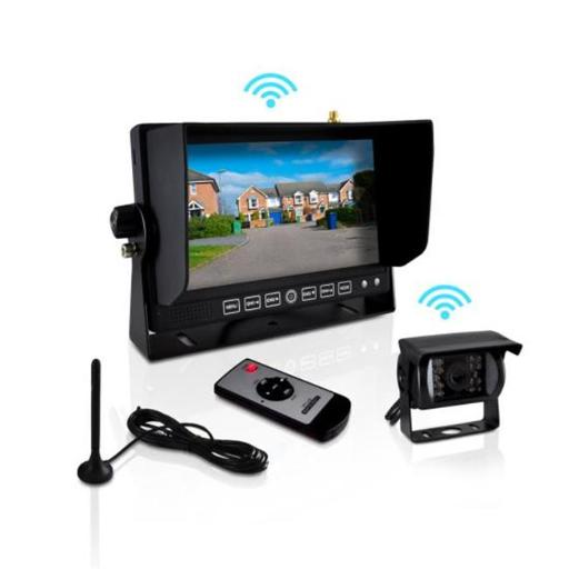 4T9222 7 in. Display Wireless Weatherproof Rearview Backup Camera & Monitor Video System