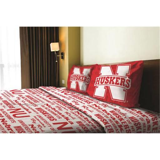 Northwest 1COL-82101-0006-RET NCAA - Nebraska Cornhuskers Anthem Full Bed Sheet Set