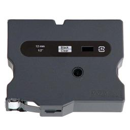 Brother international corporat tx1311 1pk 1/2in black/clear for p-touch 50 ft